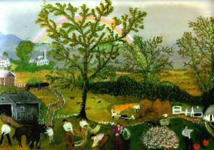 'The Rainbow', Grandma Moses, 1961